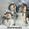 Snowmans. Find objects