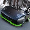 Black Green Car