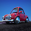Red Cartoon Car