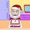 Santa Cooking Red Velvet Cake
