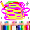 Children's Star Paint, Multiple Brush Sizes, Save Option
