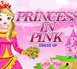 Princess In Pink Dress up