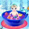 Baby Elsa Bath Time