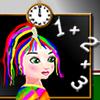 Rainbow Girl at Math Class