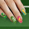 Soccer Nail Art Brazil 2014