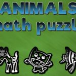 Animals math puzzles