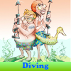 Diving. Find objects
