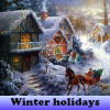 Winter holidays. Find objects