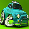 Green Italian Style Car