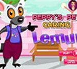 Peppy's pet  caring lemur