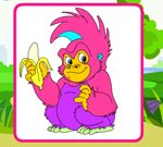 Playful Monkeys Coloring