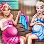 Cute Mommies Pregnant Sauna